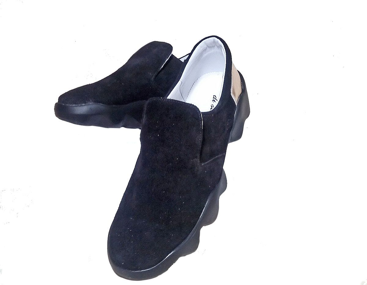 20993f0e3 ... Слипоны женские Discount Shoes MKS Черная подошва, черный верх 1 ...