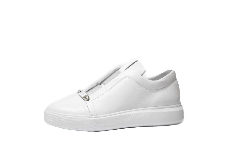69e754f1f Слипоны женские Discount Shoes 114 Белая подошва, белый верх купить ...