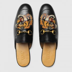 Gucci Princetown Embroidered Slipper Tiger