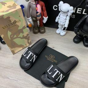 Valentino Garavani VLTN Slide Sandals Black