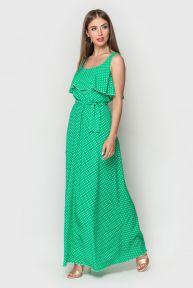 Платье Кира TessDress цвет ментол+горох