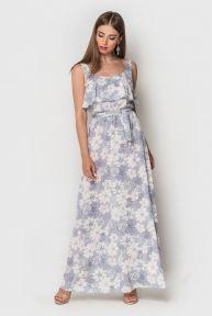Платье Кира-2 TessDress цвет серый+принт