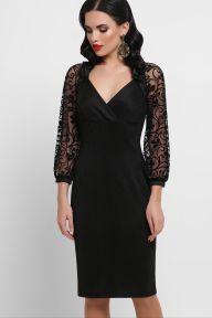 Платье Флоренция д/р черный 1 Glem p53022