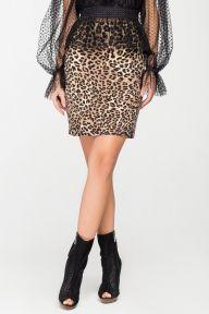 Леопардовая юбка мини Рэбекка It Elle 6126
