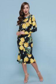 Платье Glem Тюльпаны желтые Фаина д/р
