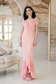 Платье Наоми к/р персик Glem p47958