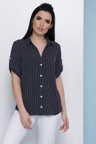 Блуза Джейн к/р т.синий-белый м. горох Glem p47930
