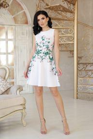 Платье Glem Маленькие розы Альба б/р
