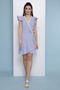 Платье Алсу б/р синяя м. полоска Glem p48452