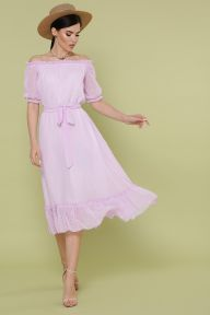 Платье Устинья к/р лавандовый Glem p49333