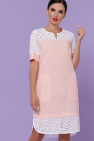 Платье Сати-3 к/р персик Glem p49832