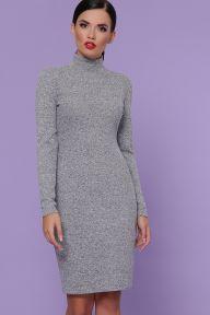 Платье-гольф Алена д/р серый Glem p50313