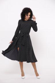 Платье миди с шортами Бленда TessDress цвет чёрный+горох