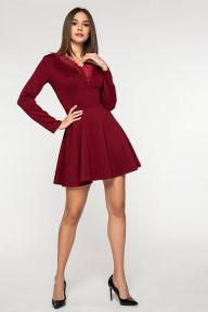 Повседневное платье бордового цвета Дебора It Elle 51111
