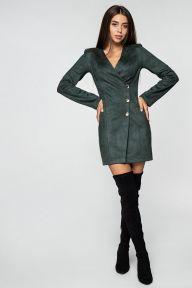 Платье-жакет из замши бутылочного цвета Джанна It Elle 51114