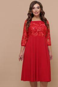 Платье Тифани Б д/р красный Glem p52204