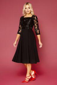Платье Тифани Б д/р черный Glem p52825