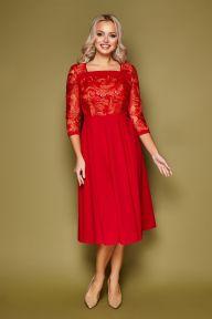 Платье Тифани д/р красный Glem p52207