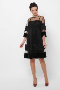 Платье Хелма 3/4 черный 1 Glem p53674