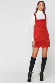 Вельветовый красный сарафан Эвалин It Elle 51119