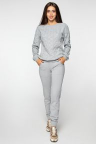 Вязаный костюм серого цвета Саяна It Elle V9005