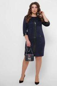 Платье Руфина-Б д/р синий Glem p53359