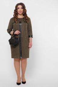 Платье Руфина-Б д/р хаки Glem p53361