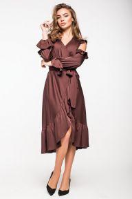 Шелковое нарядное платье с оборками Керрая It Elle 5138
