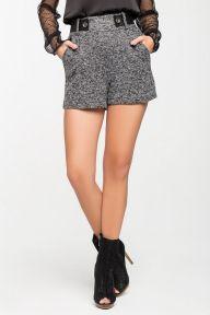 Теплые серые шорты Кармела It Elle 4032
