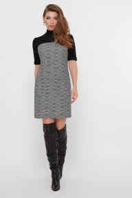 Платье Дилора к/р букле ромб-черный Glem p54173