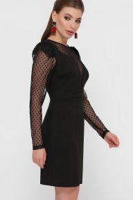 Платье Береника д/р черный Glem p55490