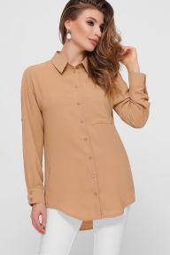 Блуза Андреа д/р темно бежевый Glem p55311