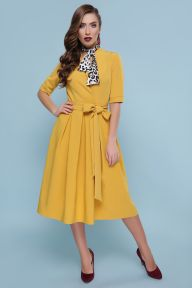 Платье Ангелина к/р горчица Glem p46611