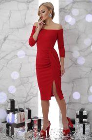 Платье Амелия д/р красный Glem p45691