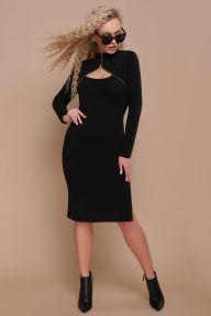 Платье Альбина д/р черный Glem p45194