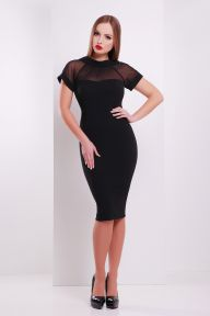 Платье Алесандра к/р черный Glem p32684