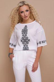 Орнамент черный блуза Мирана к/р принт Glem p42536