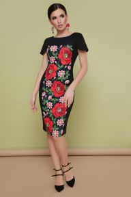 Маки платье Питрэса-КД к/р черный Glem p35196