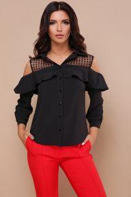 Блуза Эрика д/р черный Glem p43319