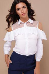 Блуза Эрика д/р белый Glem p43320