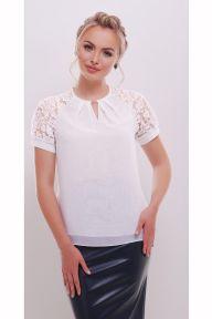 Блуза Ильва к/р белый Glem p35564