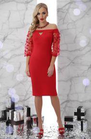 Платье Розана д/р красный Glem p45886