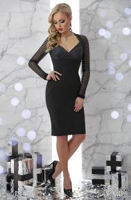 Платье Патриция д/р черный Glem p45698