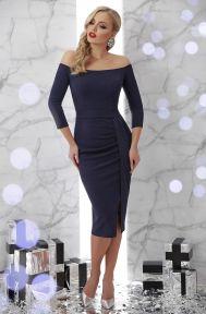 Платье Амелия д/р синий Glem p45693