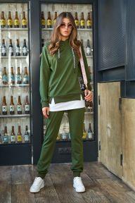 Прогулочный костюм Jadone Fashion Милитари