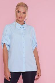 Блуза Лана-Б к/р голубой Glem p47785