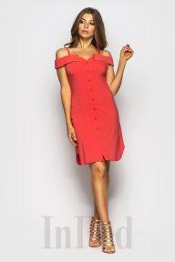 Платье JLо коралловое InRed 7525