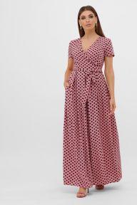 Платье Шайни к/р розовый-черный горох с. Glem p57567