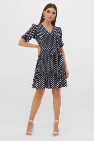 Платье Мальвина к/р синий-белый горох с. Glem p57562
