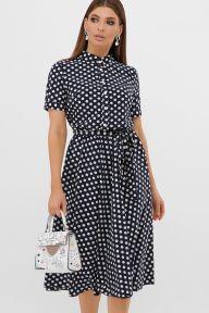 Платье Изольда к/р синий-белый горох с. Glem p57560